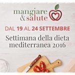 Settimana della Dieta Mediterranea, fino al 24 settembre consulenze gratuite